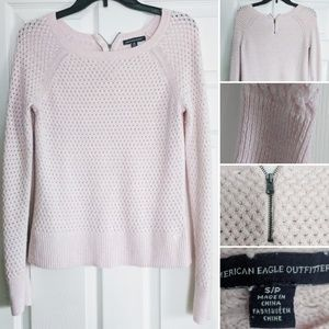 American Eagle Outfitters Pink Knit Sweater S/P